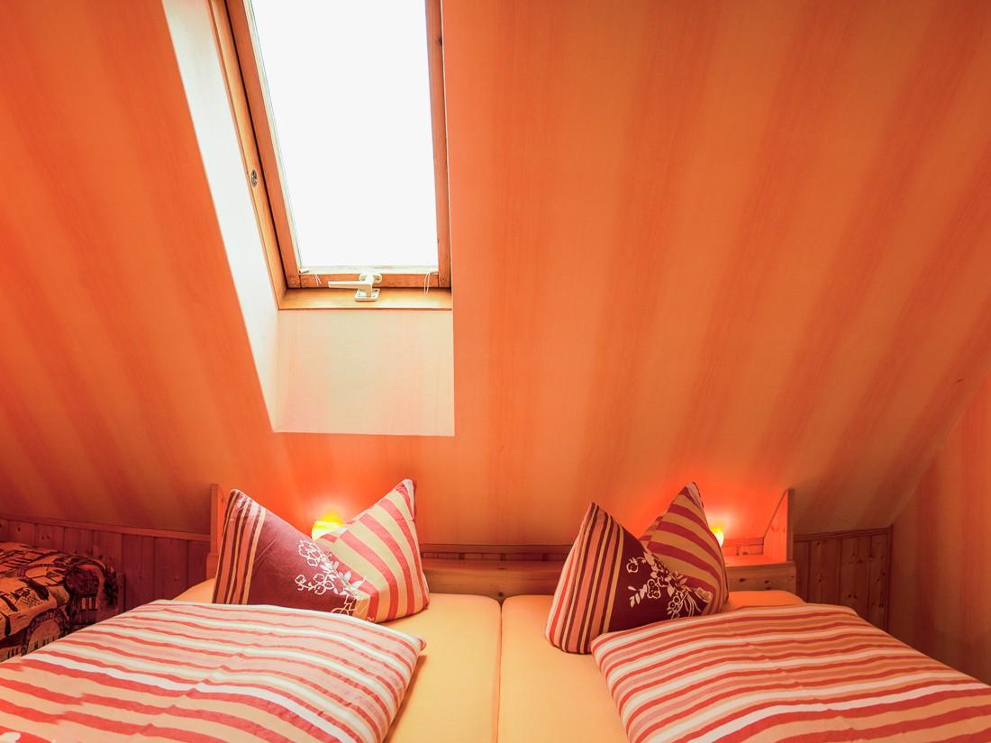 Ferienwohnung Schlossblick Schlafzimmer